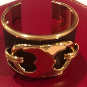Leather bracelet with gold details Tory Burch